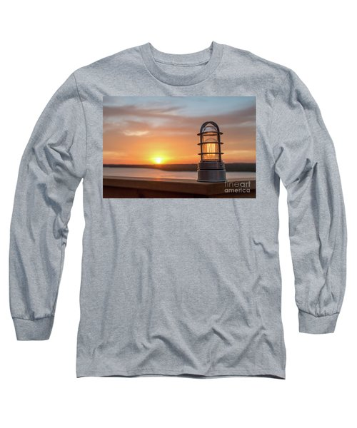 Closeup Of Light With Sunset In The Background Long Sleeve T-Shirt