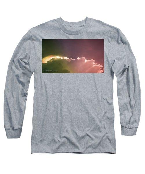 Cloud Eruption Long Sleeve T-Shirt by Stefanie Silva
