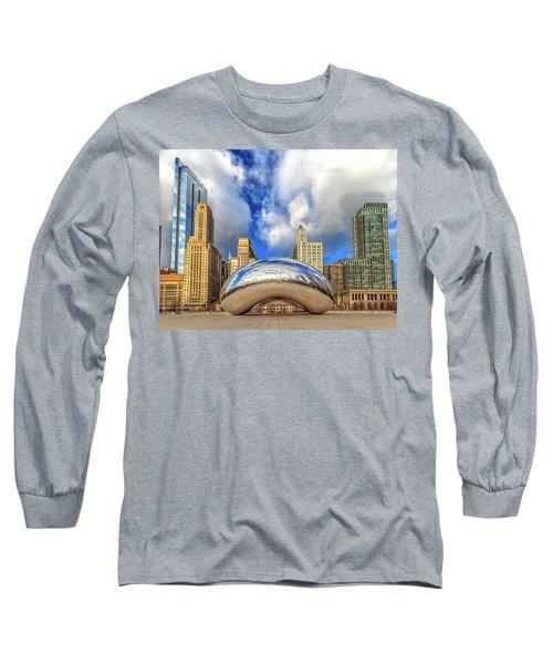Cloud Gate @ Millenium Park Chicago Long Sleeve T-Shirt by Peter Ciro