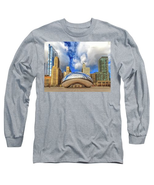 Cloud Gate @ Millenium Park Chicago Long Sleeve T-Shirt