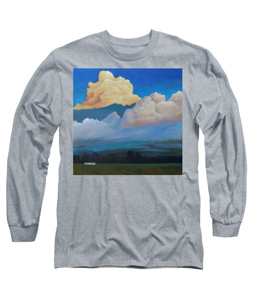 Long Sleeve T-Shirt featuring the painting Cloud On The Rise by Gary Coleman