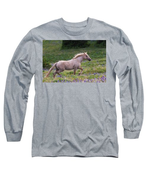 Cloud- Wild Stallion Of The West Long Sleeve T-Shirt