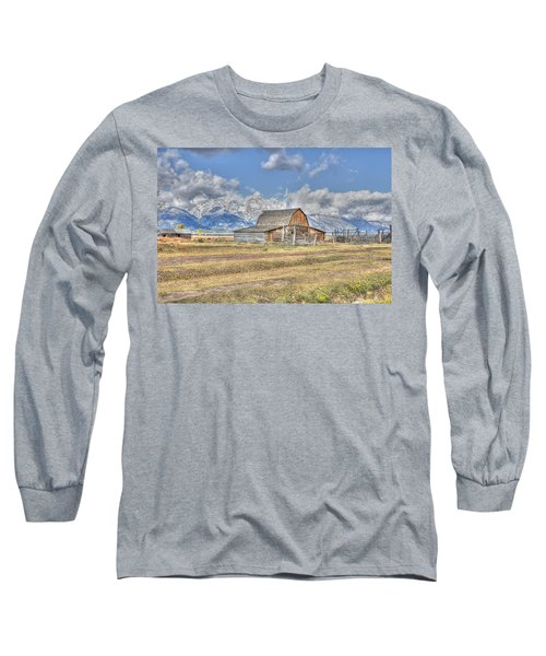 Clouds And Barn Long Sleeve T-Shirt