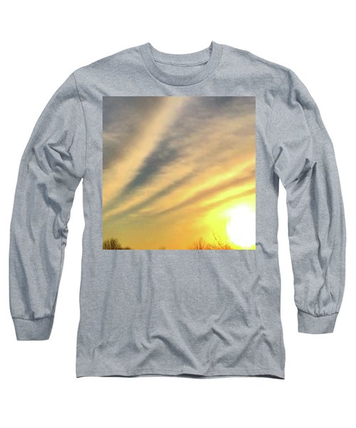 Clouds And Sun Long Sleeve T-Shirt by Sumoflam Photography