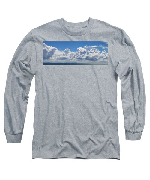 Clouds Over Catalina Island - Panorama Long Sleeve T-Shirt