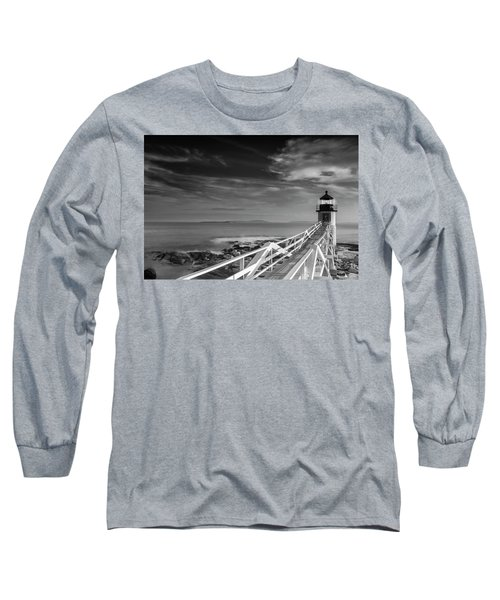 Long Sleeve T-Shirt featuring the photograph Clouds Over Marshall Point Lighthouse In Maine by Ranjay Mitra