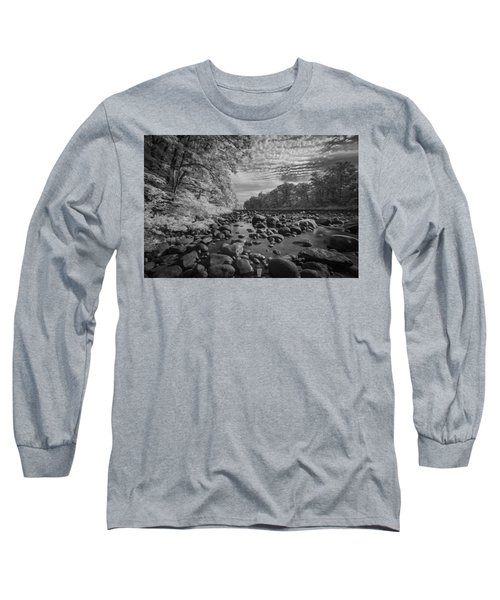 Clouds Over The River Rocks Long Sleeve T-Shirt