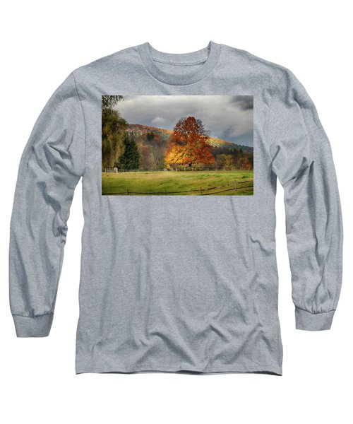 Clouds Part Over Marsh Billings-rockefeller Nhp Long Sleeve T-Shirt