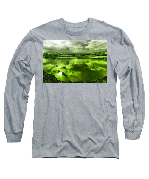 Long Sleeve T-Shirt featuring the photograph Clouds Reflecting Off The Columbia  by Jeff Swan