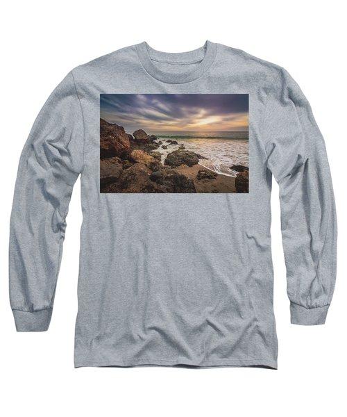 Cloudy Point Dume Sunset Long Sleeve T-Shirt