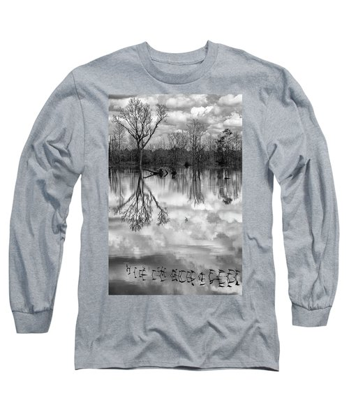 Long Sleeve T-Shirt featuring the photograph Cloudy Reflection by Hitendra SINKAR