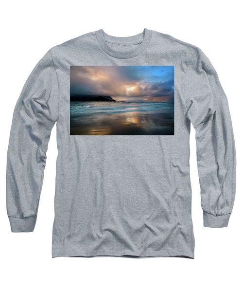 Cloudy Sunset At Hanalei Bay Long Sleeve T-Shirt