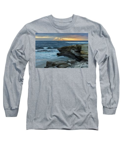 Cloudy Sunset At La Jolla Shores Beach Long Sleeve T-Shirt