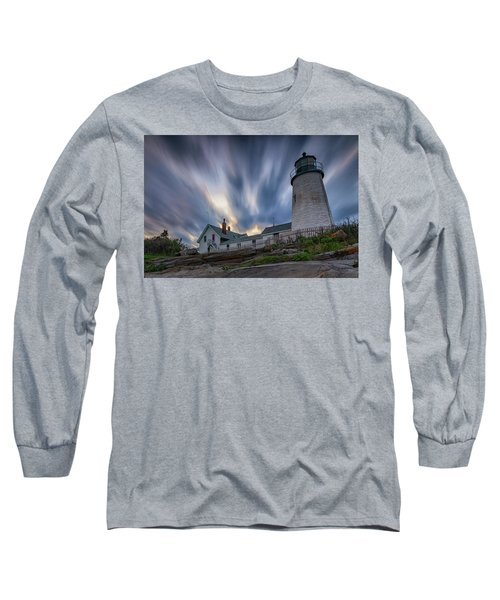 Cloudy Sunset At Pemaquid Point Long Sleeve T-Shirt