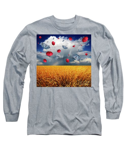 Cloudy With A Chance Of Umbrellas Long Sleeve T-Shirt