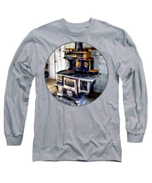 Coal Stove In Kitchen Long Sleeve T-Shirt