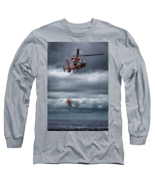 Coast Guard Rescue Operation  Long Sleeve T-Shirt