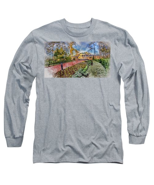 Coastal Carolina University Digital Watercolor Long Sleeve T-Shirt by David Smith