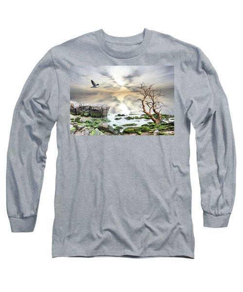 Coastal Landscape  Long Sleeve T-Shirt by Angel Jesus De la Fuente