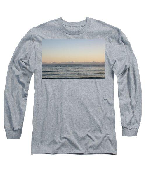Coastal Mountains At Sunrise Long Sleeve T-Shirt
