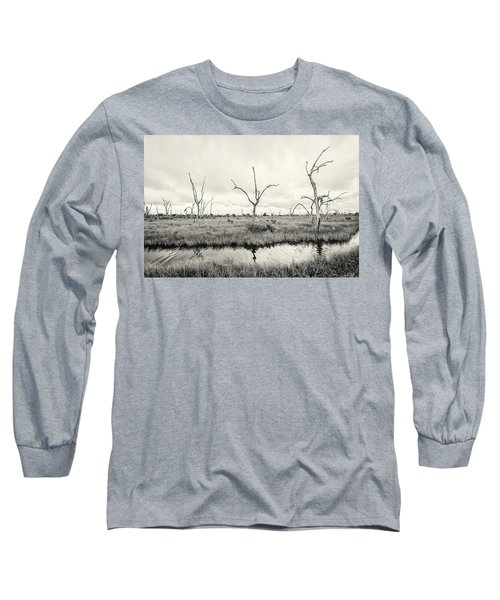 Long Sleeve T-Shirt featuring the photograph Coastal Skeletons by Andy Crawford