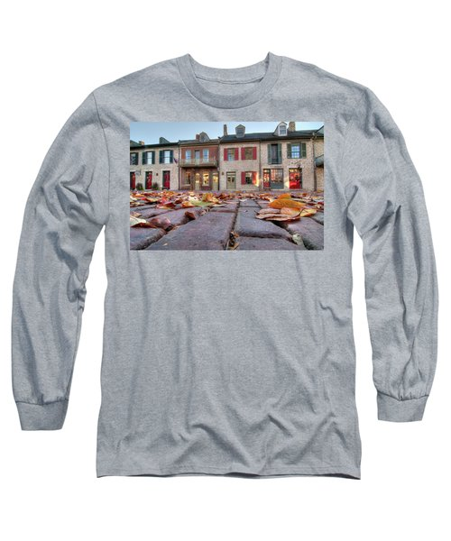 Cobblestone And Leaves Long Sleeve T-Shirt