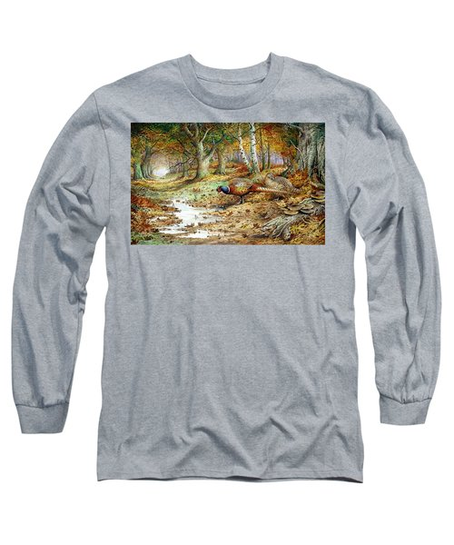 Cock Pheasant And Sulphur Tuft Fungi Long Sleeve T-Shirt