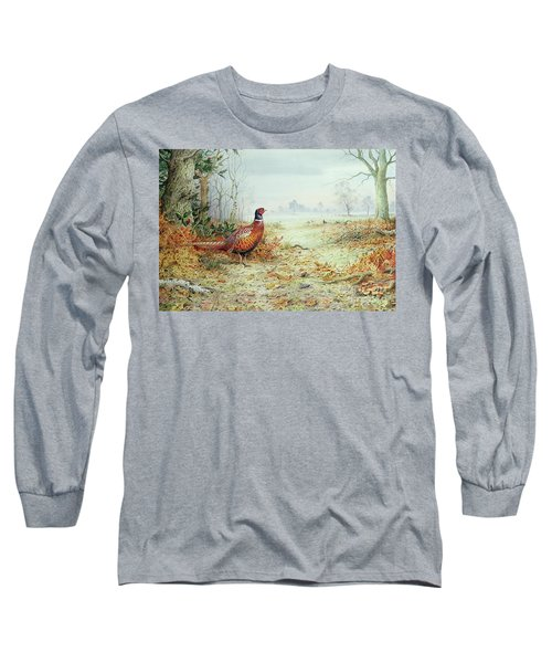 Cock Pheasant  Long Sleeve T-Shirt by Carl Donner