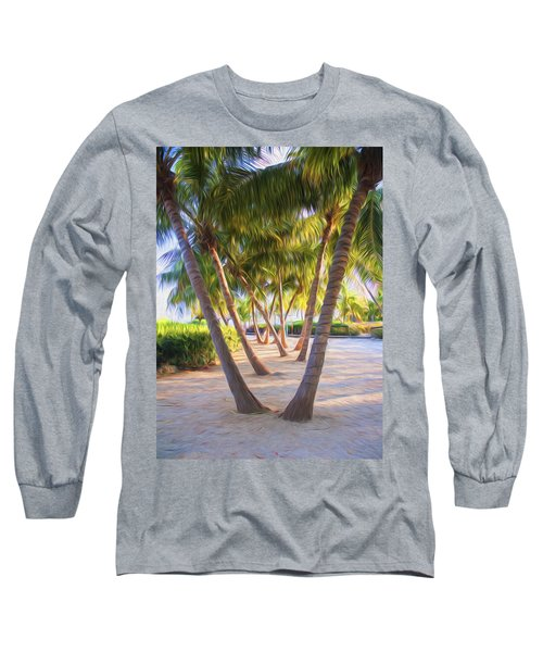 Coconut Palms Inn Beachfront Long Sleeve T-Shirt