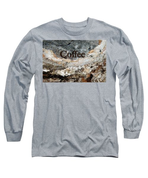 Coffee Edit 2 Brown Letters Long Sleeve T-Shirt