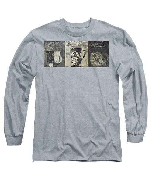Coffee Flavors Gold And Black II Long Sleeve T-Shirt