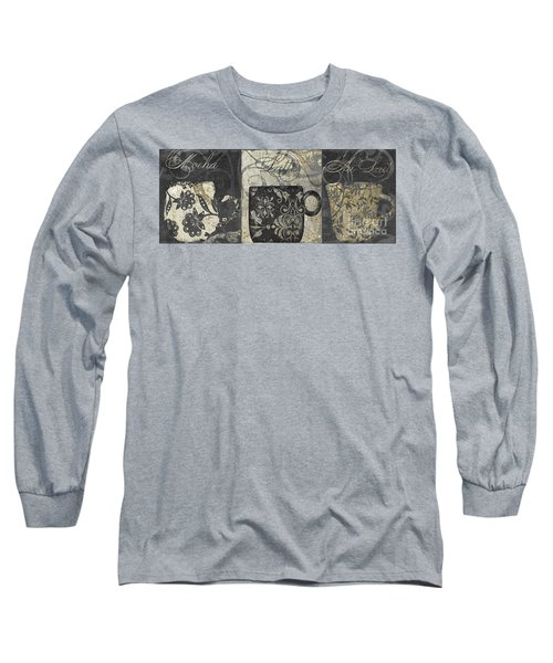 Coffee Flavors Gold And Black Long Sleeve T-Shirt