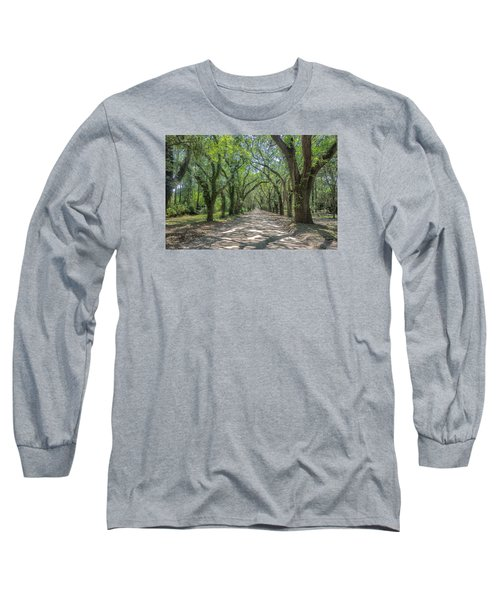 Long Sleeve T-Shirt featuring the photograph Coffin Point Roadway by Patricia Schaefer