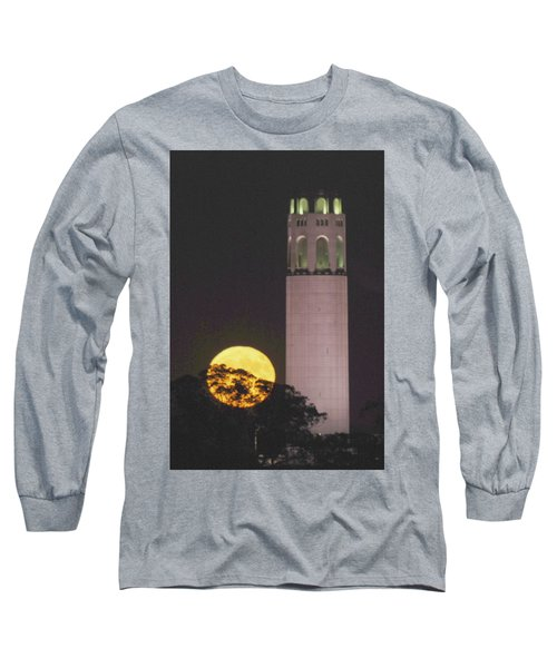 Coit Tower And Harvest Moon Long Sleeve T-Shirt