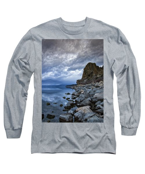 Cold Blue Cave Rock Long Sleeve T-Shirt