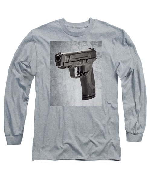 Long Sleeve T-Shirt featuring the photograph Cold, Blue Steel by Andy Crawford