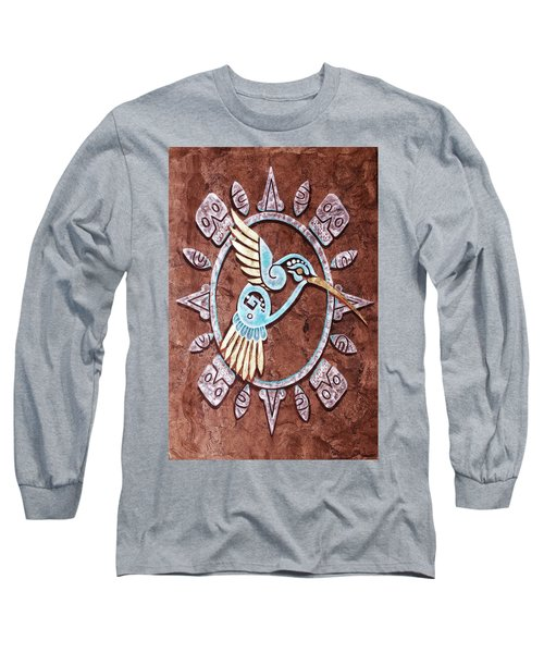 Long Sleeve T-Shirt featuring the painting Colibri by J- J- Espinoza