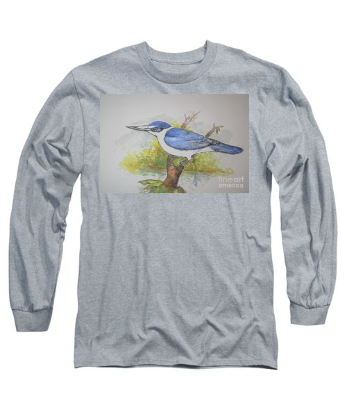Collared Kingfisher Long Sleeve T-Shirt