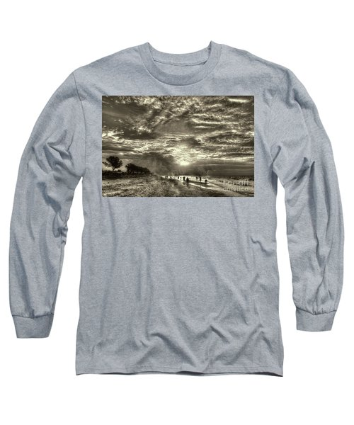 Collecting Seashells On Sanibel Island Long Sleeve T-Shirt