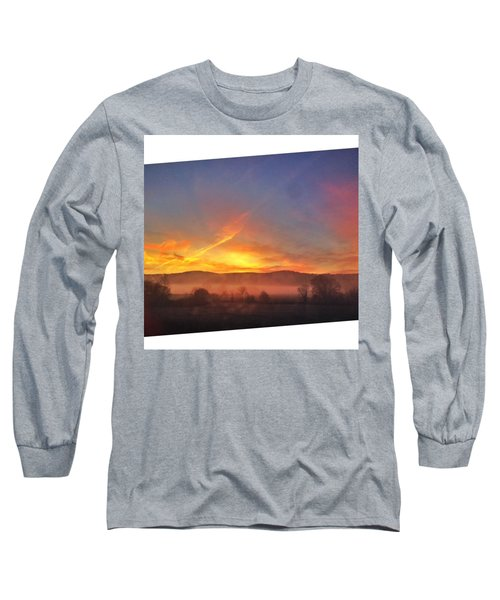 #college #sunrise #slant #crop #sun Long Sleeve T-Shirt