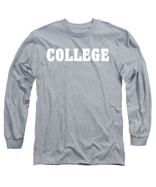 College Tee Long Sleeve T-Shirt by Edward Fielding