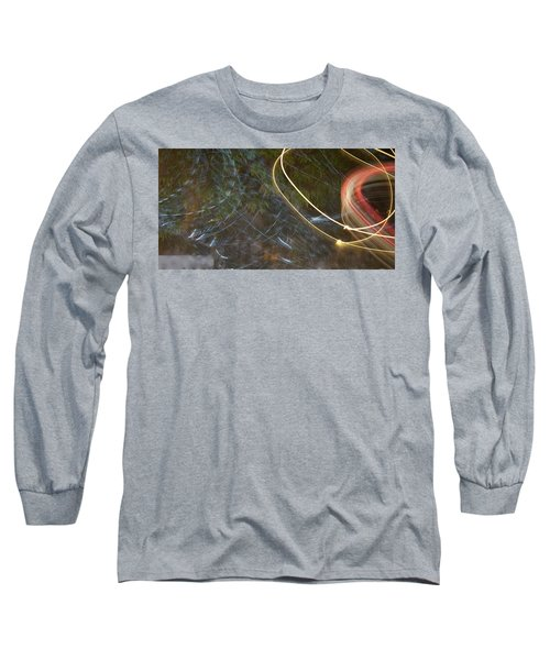 Long Sleeve T-Shirt featuring the pyrography Colliding Worlds  by Michael Lucarelli