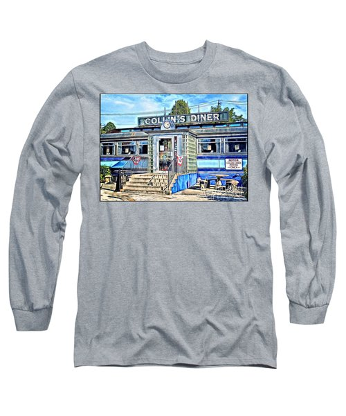 Collin's Diner New Canaan,conn Long Sleeve T-Shirt by MaryLee Parker