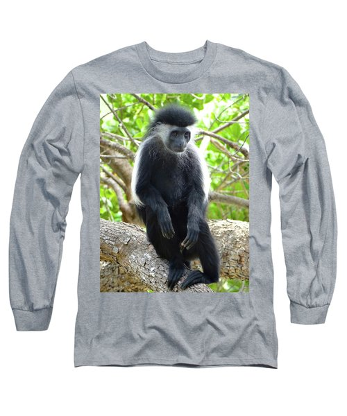 Colobus Monkey Sitting In A Tree 2 Long Sleeve T-Shirt