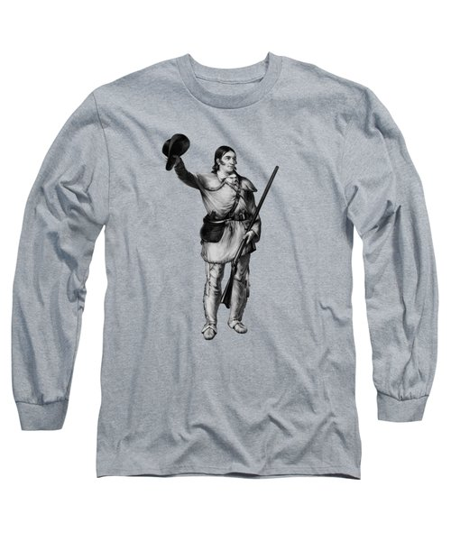 Colonel Davy Crockett Long Sleeve T-Shirt