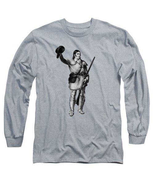 Colonel Davy Crockett Long Sleeve T-Shirt