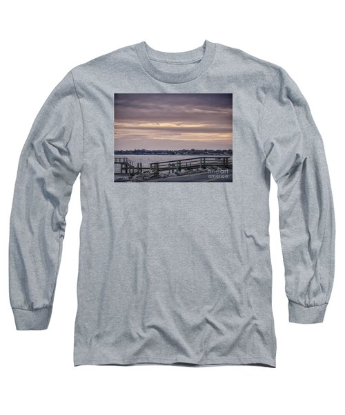 Long Sleeve T-Shirt featuring the photograph Colonial Beach Virginia Waterfront   by Melissa Messick