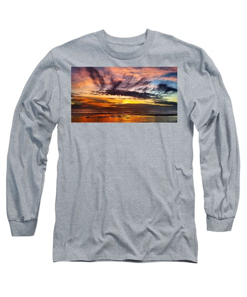 Color Burst Malibu Sunset Long Sleeve T-Shirt