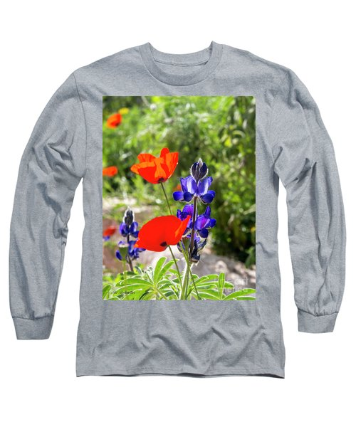 Long Sleeve T-Shirt featuring the photograph Color Mix 02 by Arik Baltinester