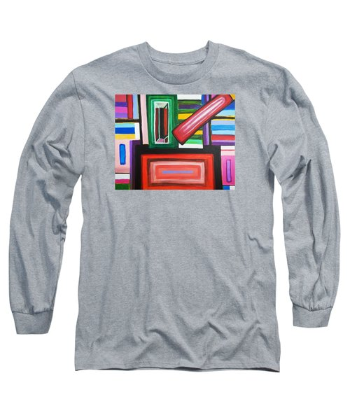 Color Squares Long Sleeve T-Shirt by Jose Rojas